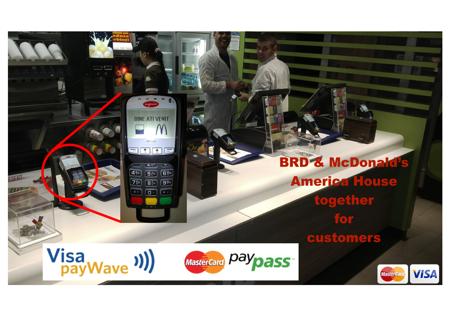 """Soluție de plată """"Cashless"""" în restaurantele McDonald's din România"""
