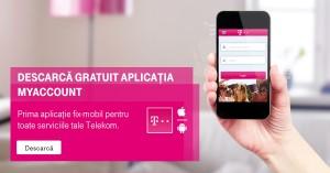 Aplicatia de mobil MyAccount: prima aplicatie pentru toate serviciile de comunicare, fixe si mobile