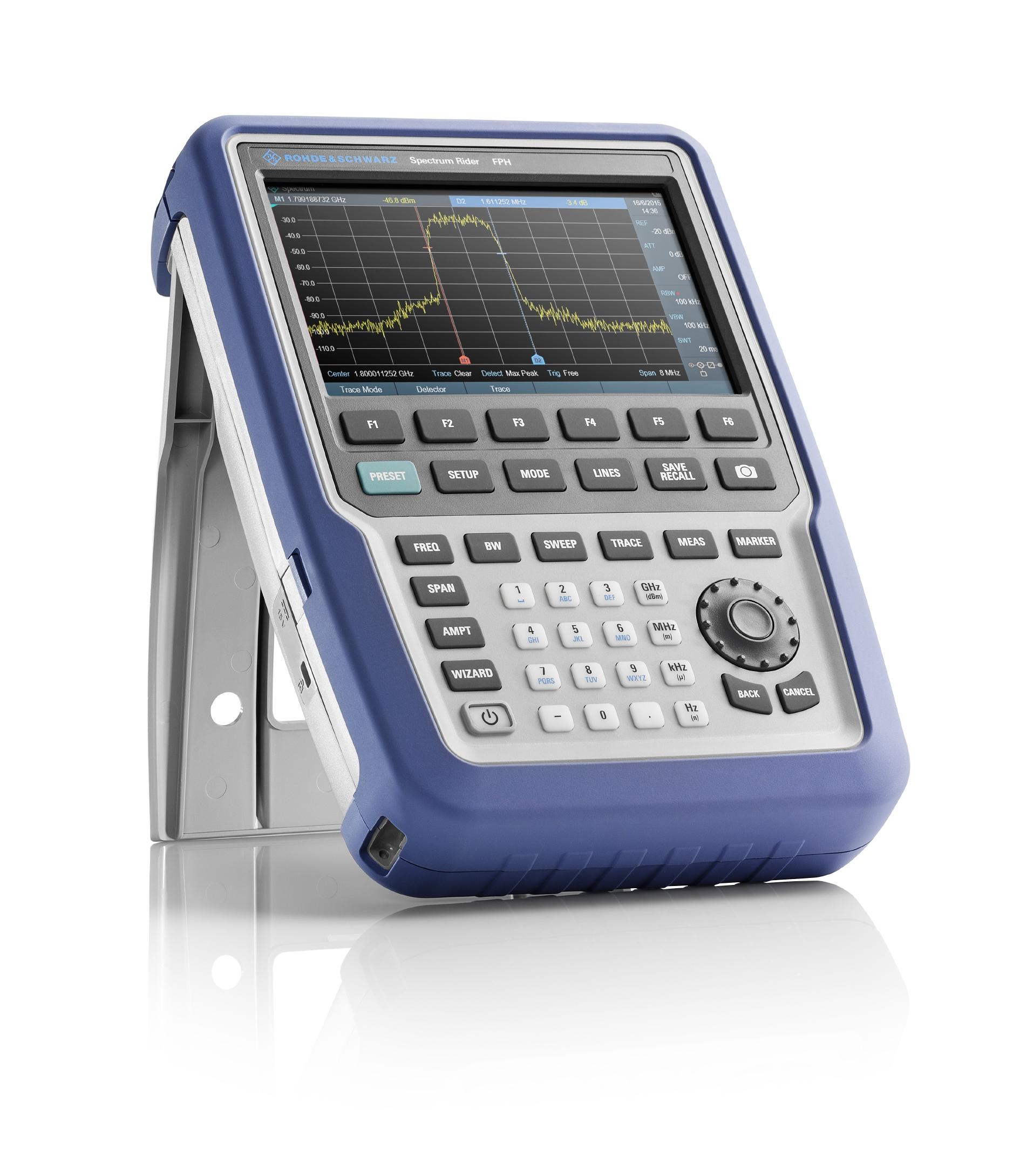 Noul analizor de spectru portabil R&S Spectrum Rider FPH, utilizabil atȃt ȋn teren cȃt și ȋn laborator, se dezvoltă sincronizat cu nevoile dumneavoastră
