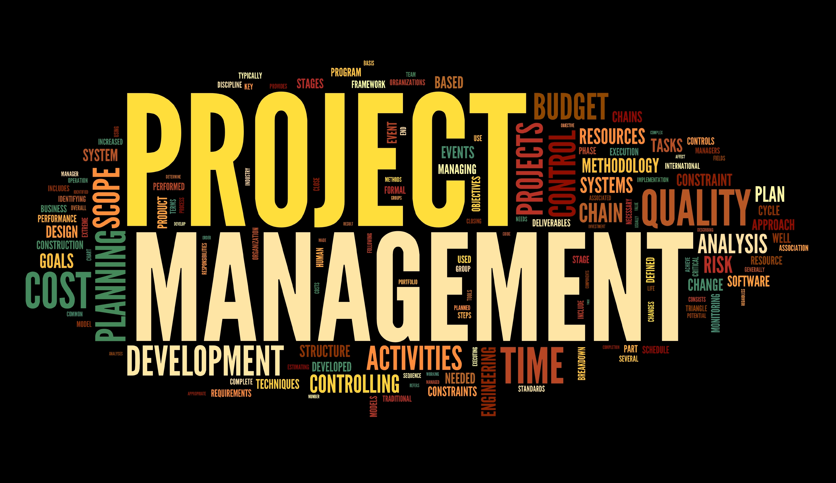 Project management in tag cloud