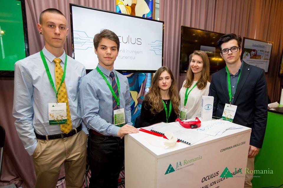 Echipa Oculus va reprezenta Romania la JA Europe Company of the Year Competition 2016