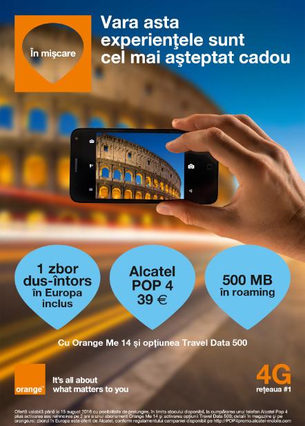 Orange și Alcatel oferă biletul de avion pentru o vacanță în Europa