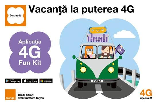 Aplicația 4G Fun Kit de la Orange