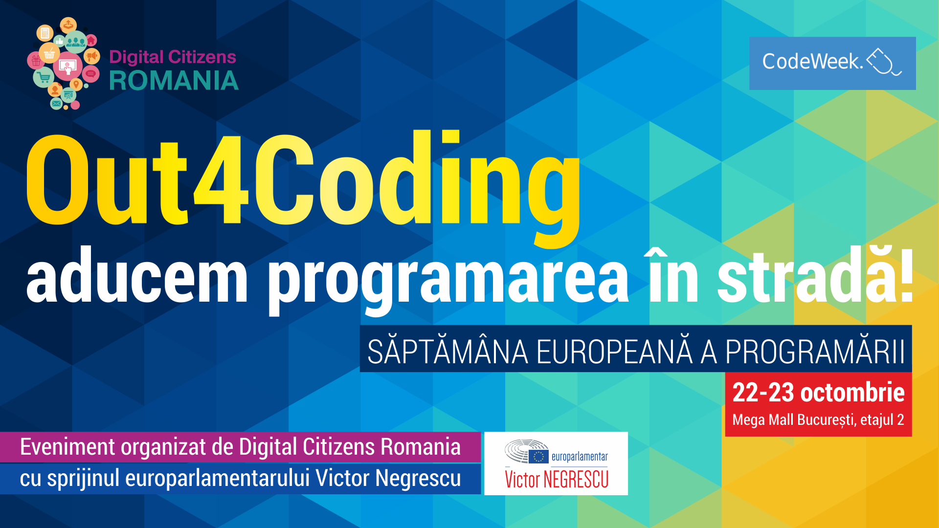Incepe  Out4Coding, eveniment dedicat competentelor digitale si de programare