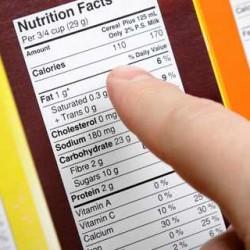 Gestionarea informatiilor nutritionale pe etichete