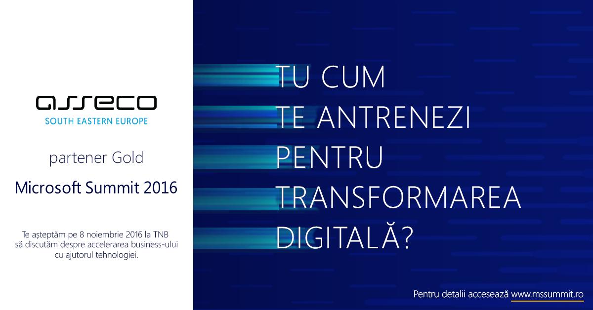 Asseco SEE România, Partener Gold la a patra ediție a Microsoft Summit