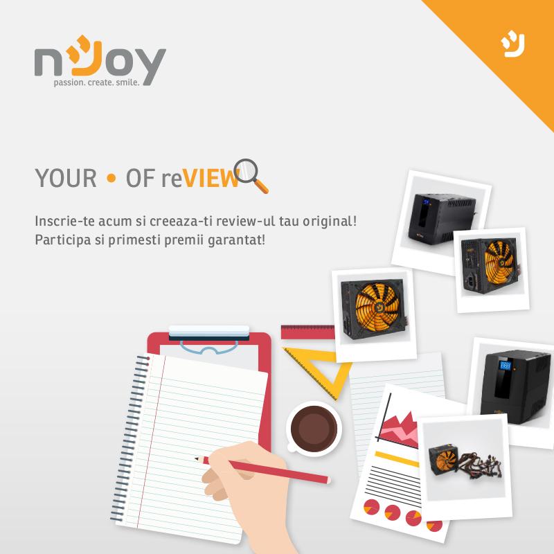 Noua campanie de review pentru produse nJoy