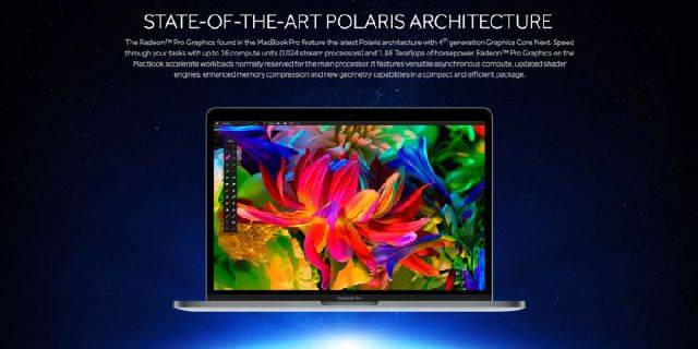 AMD echipeaza laptopurile MacBook Pro 15″ cu noile placi grafice seria Radeon Pro 400