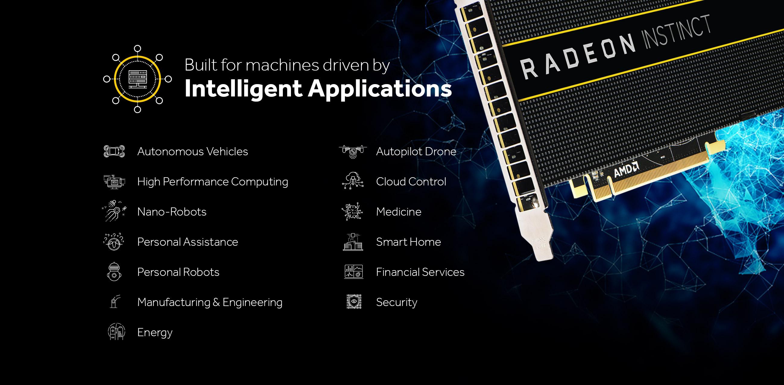 Masinile inteligente mai aproape de noi cu Radeon Instinct