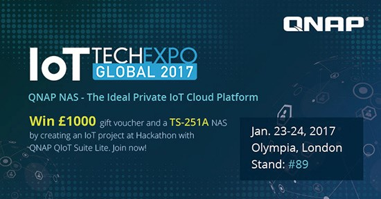 QNAP participă la IoT Tech Expo Global 2017, lansând un Hackathon IoT pentru programatori