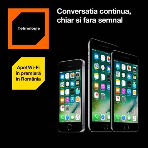 Serviciul apel Wi-Fi de la Orange, acum disponibil și pentru iPhone