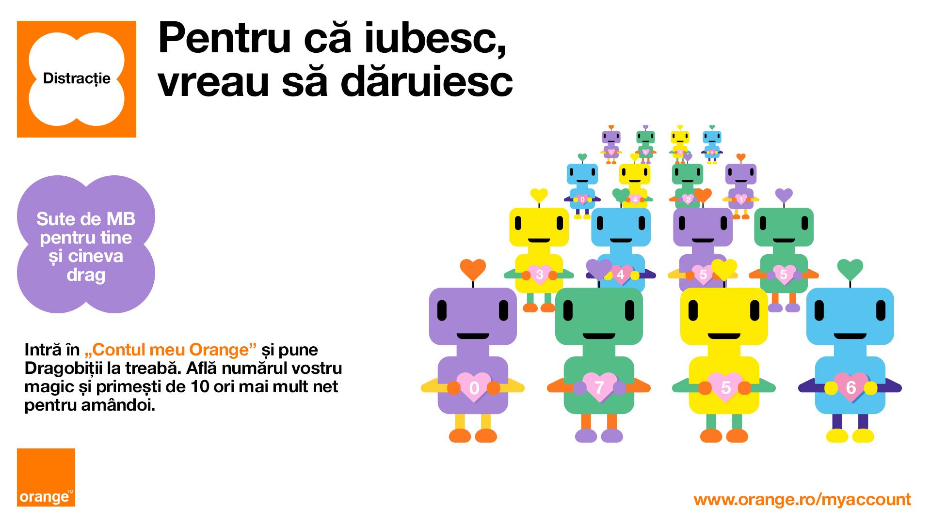 Orange și Profero prezintă Dragobiţii, mesagerii internetului în luna iubirii
