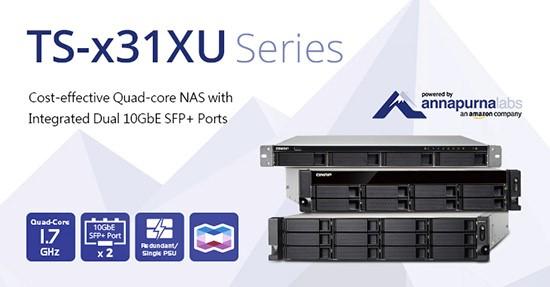 QNAP lansează NAS-urile rentabile TS-x31XU pentru rack, cu procesoare quad-core și două porturi 10GbE SFP+