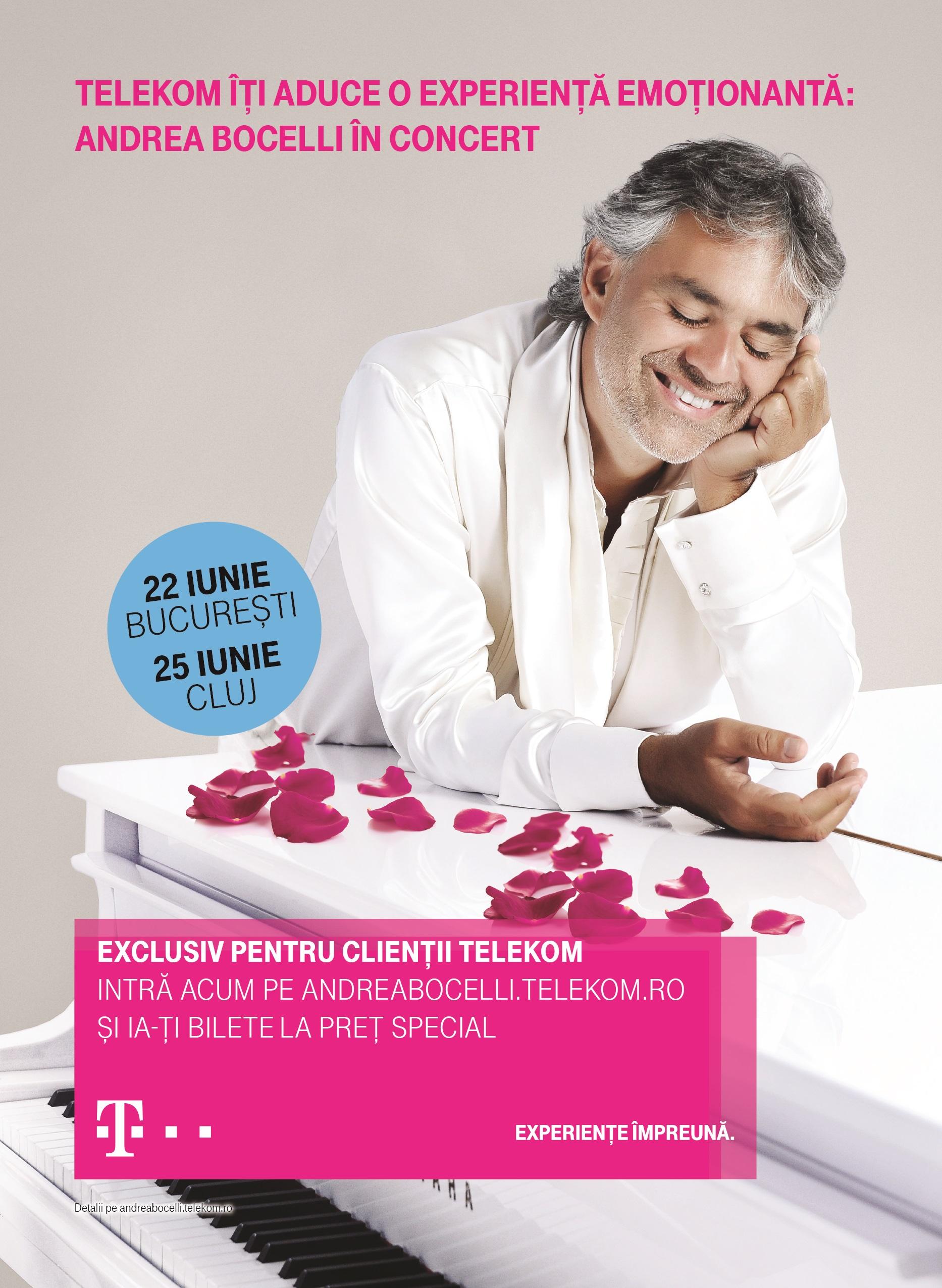 Telekom prezinta Andrea Bocelli World Tour 2017 in Romania