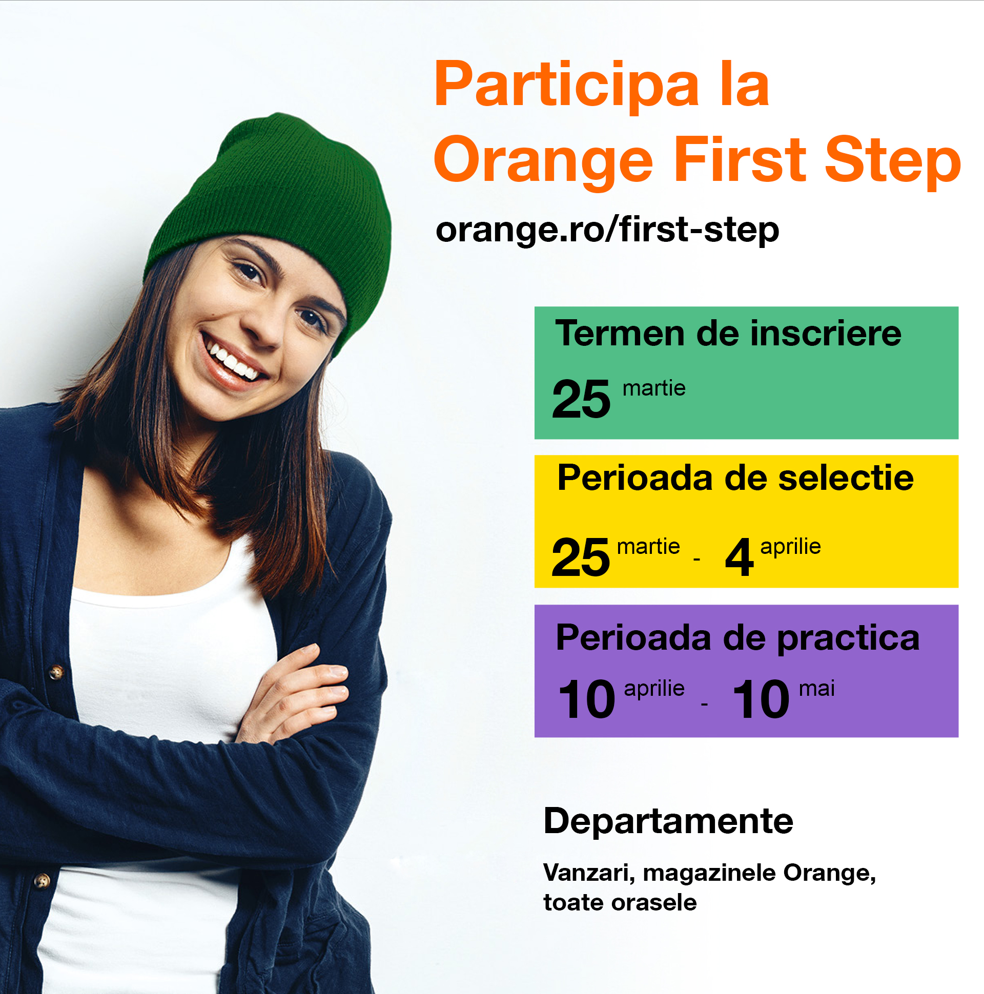 O nouă ediție națională a programului de practică Orange First Step