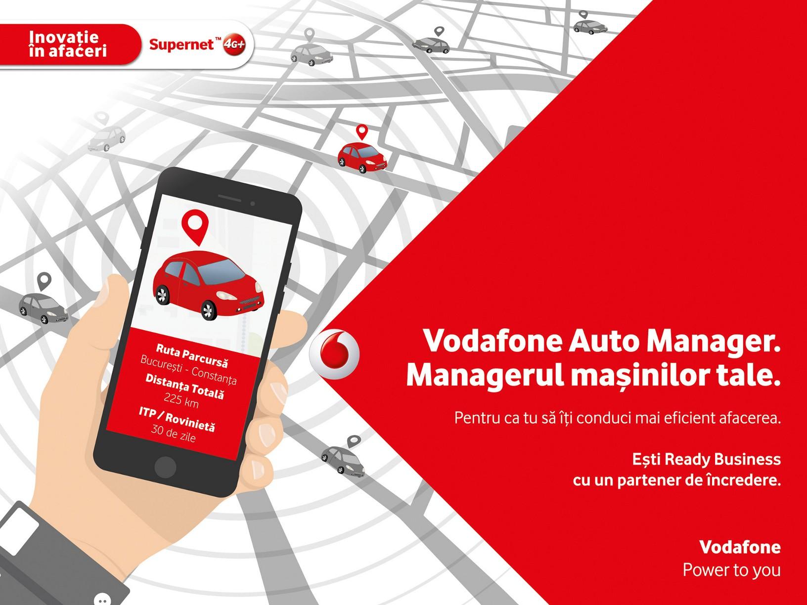Ce soluție lansează Vodafone pentru monitorizarea flotelor auto
