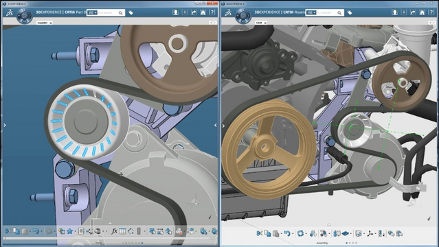 Comparație între CATIA V5 – configurația MD2 și platforma 3DEXPERIENCE® – configurația MDHX