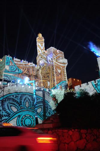 Epson face echipă cu AVS pentru o proiecție multimedia uriaşă pe zidurile Vechiului Oraş al Ierusalimului