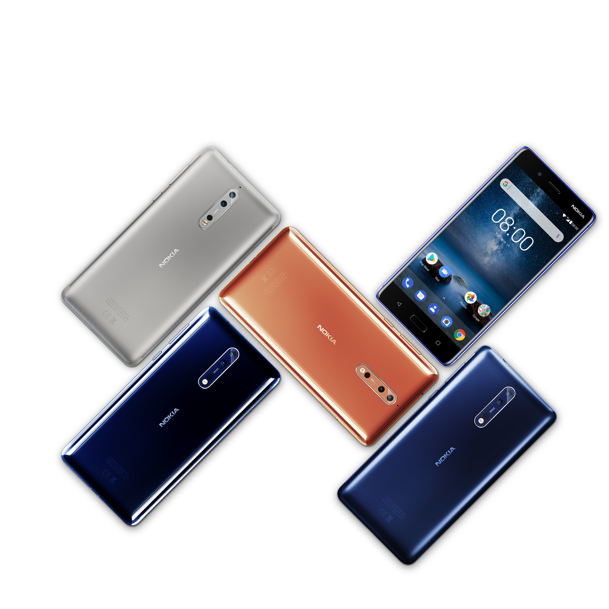 Nokia 8: Trei premiere într-un singur dispozitiv proiectat ca vârf de gamă