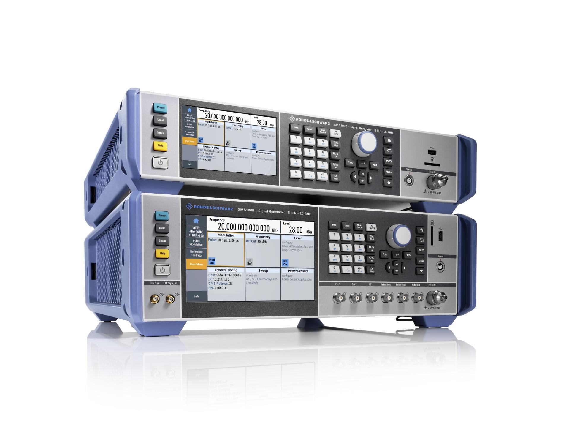 Rohde & Schwarz prezintă generatorul high-end de semnale RF și de microunde având performanțe de top pentru zgomotul de fază și cea mai mare putere de ieșire