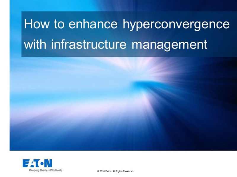 Tendinţe către hiperconvergenţa centrelor de date evidenţiază nevoia de management energetic integrat