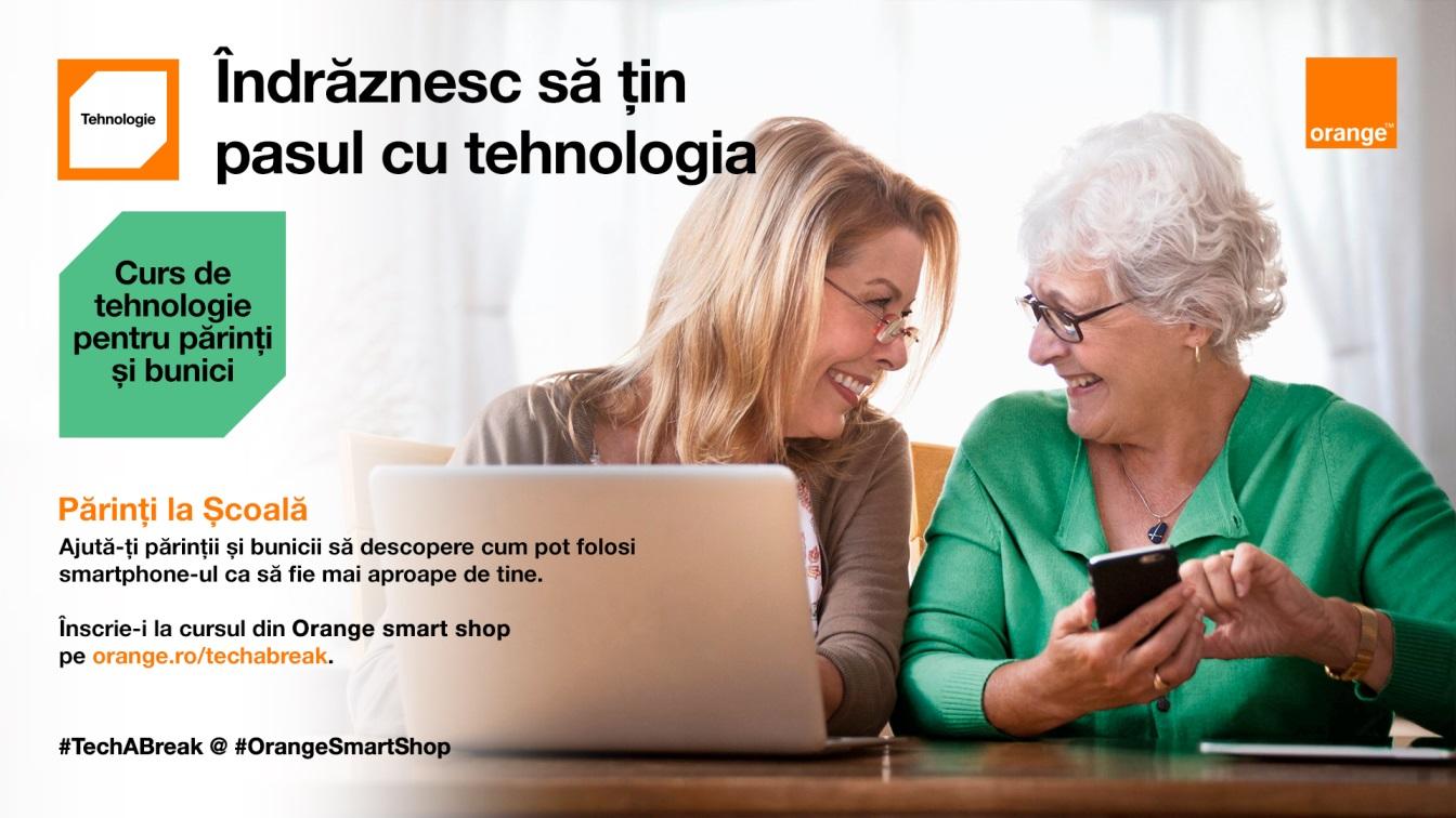 Parinti la Scoala – cursuri gratuite de tehnologie pentru parinti si bunici in magazinele Orange smart shop