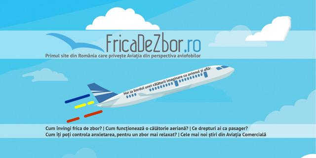 FricaDeZbor.ro – primul website din România care tratează Aviația din perspectiva aviofobilor