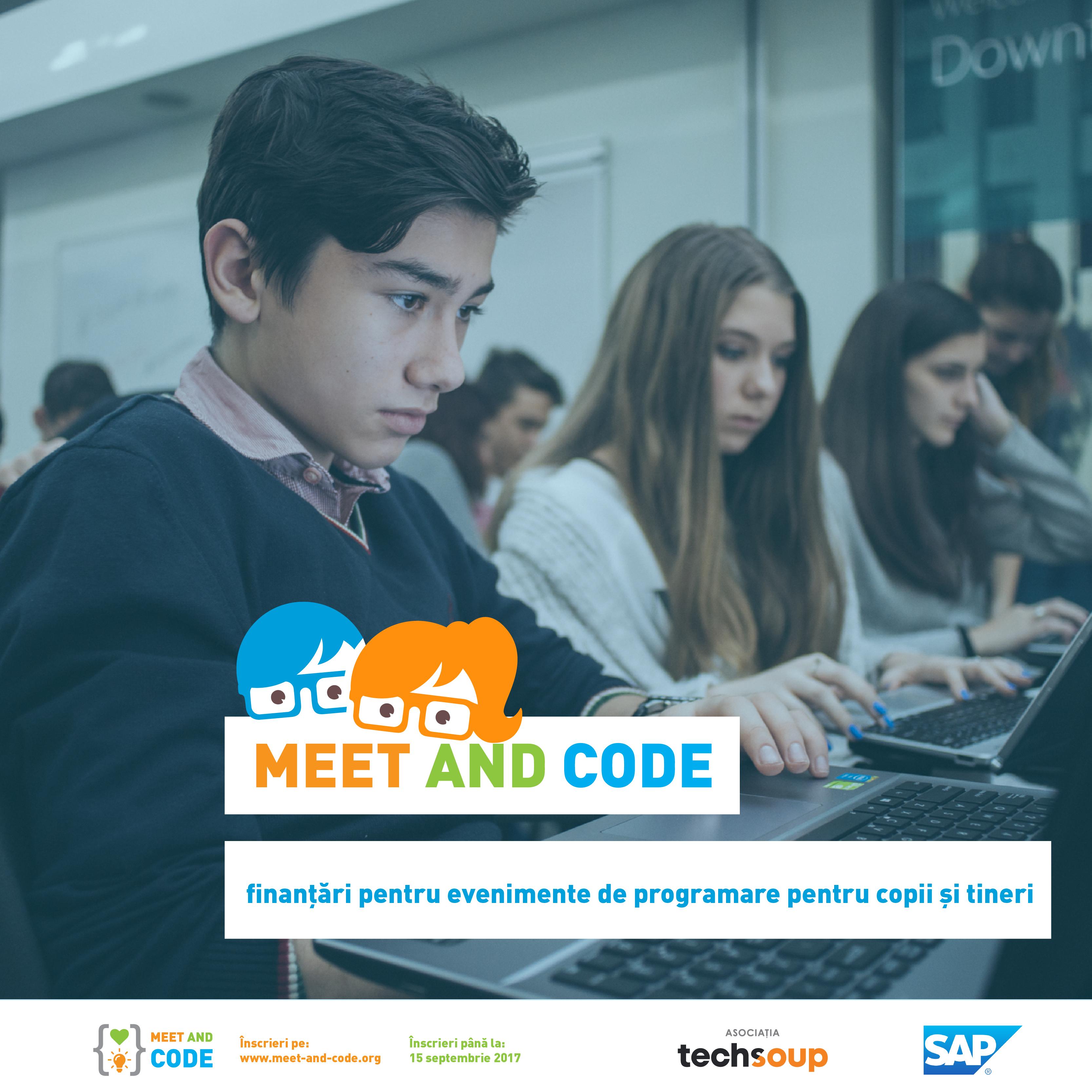 Ultimele 2 săptămâni pentru a propune un eveniment de programare în cadrul inițiativei Meet and Code