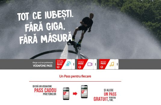 Vodafone Pass ofera acces la aplicatiile de social media, video si muzica fara a consuma traficul din abonament