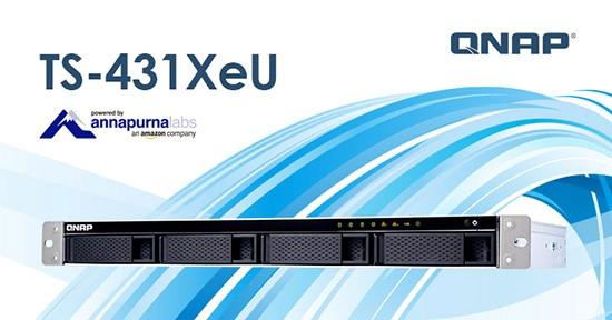 QNAP TS-431XeU, un NAS de rack, cu conectivitate 10GbE