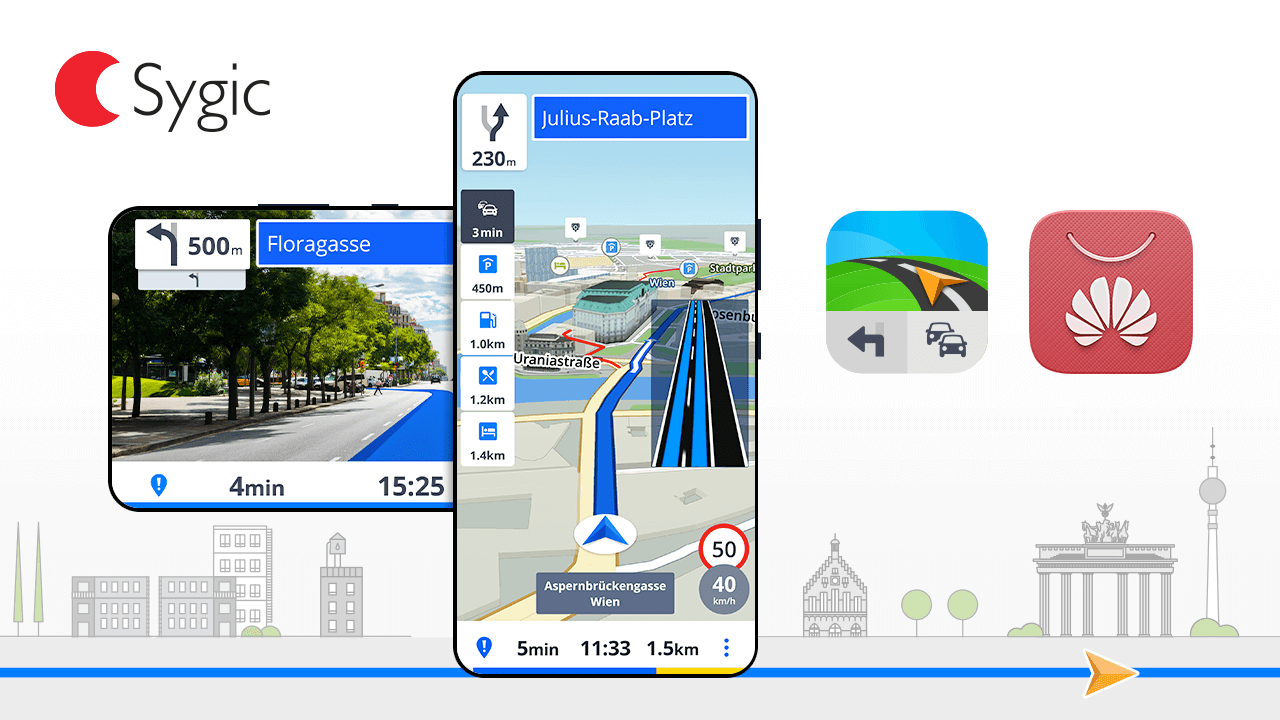 Sygic este principala aplicație de navigație din nou lansatul Huawei AppStore