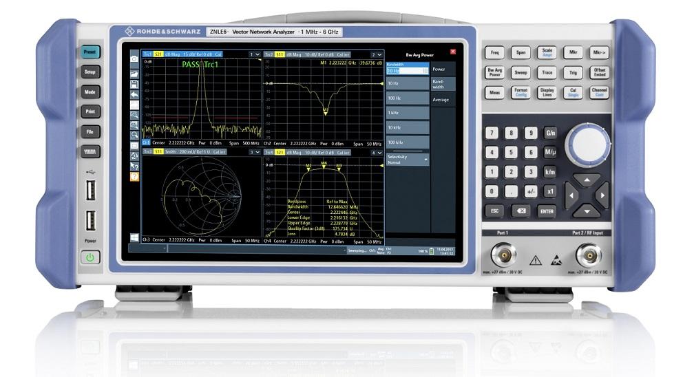 Analizorul de rețea compact și ușor R&S ZNLE, simplifică efectuarea măsurătorilor de precizie ale parametrilor S