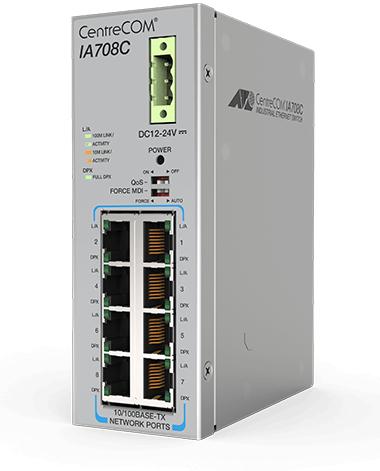 Switch-ul Allied Telesis IA708C, soluţie robustă şi eficientă pentru medii industriale