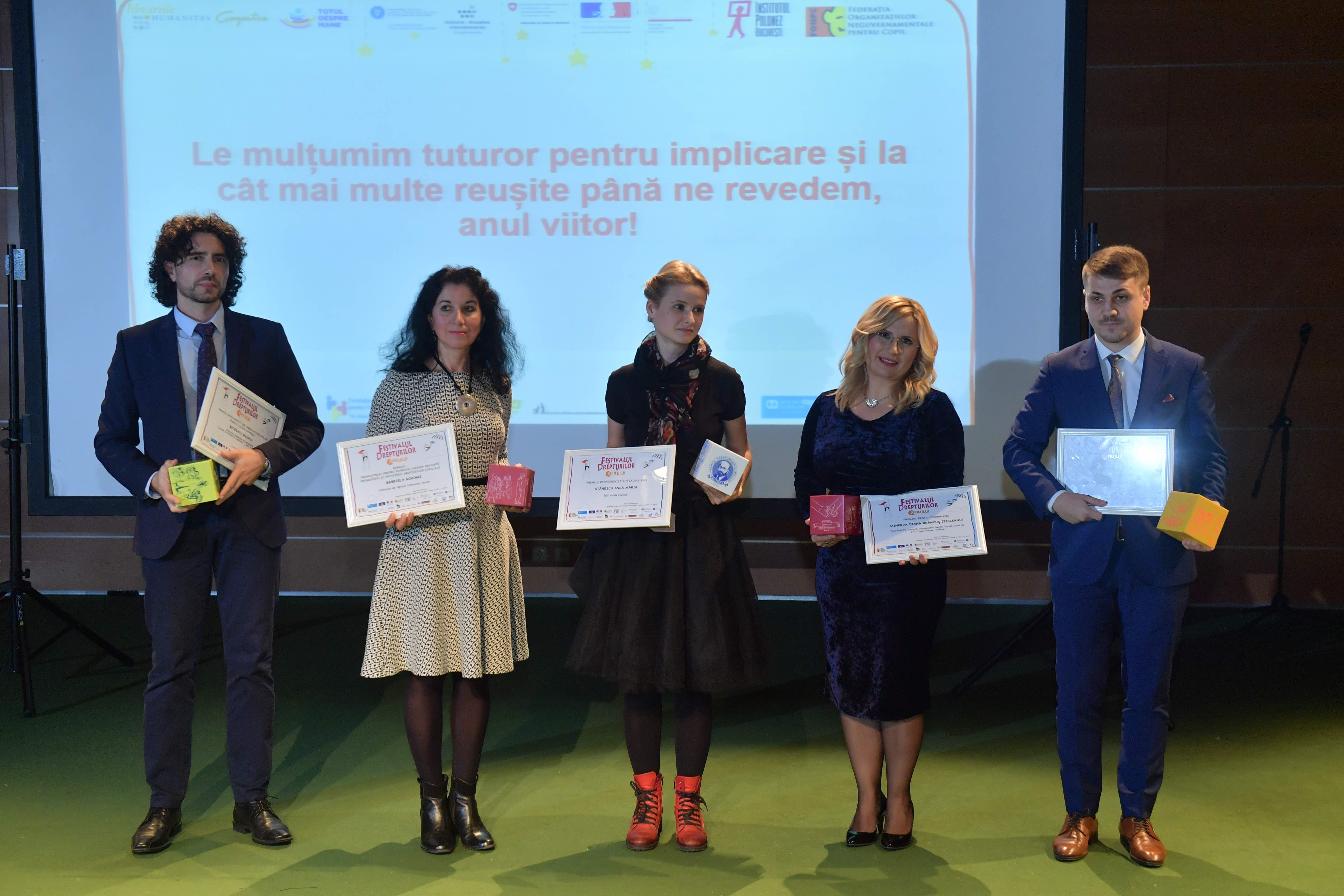 Castigatorii Premiului Drepturilor Copilului Korczak