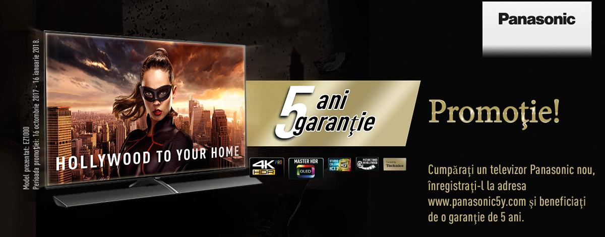 Garanție extinsă de până la 5 ani la noile televizoare Panasonic!