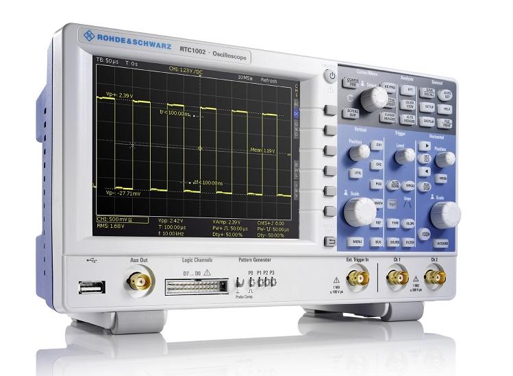 Rohde & Schwarz R&S RTC1000, osciloscop compact de înaltă calitate din clasa economică