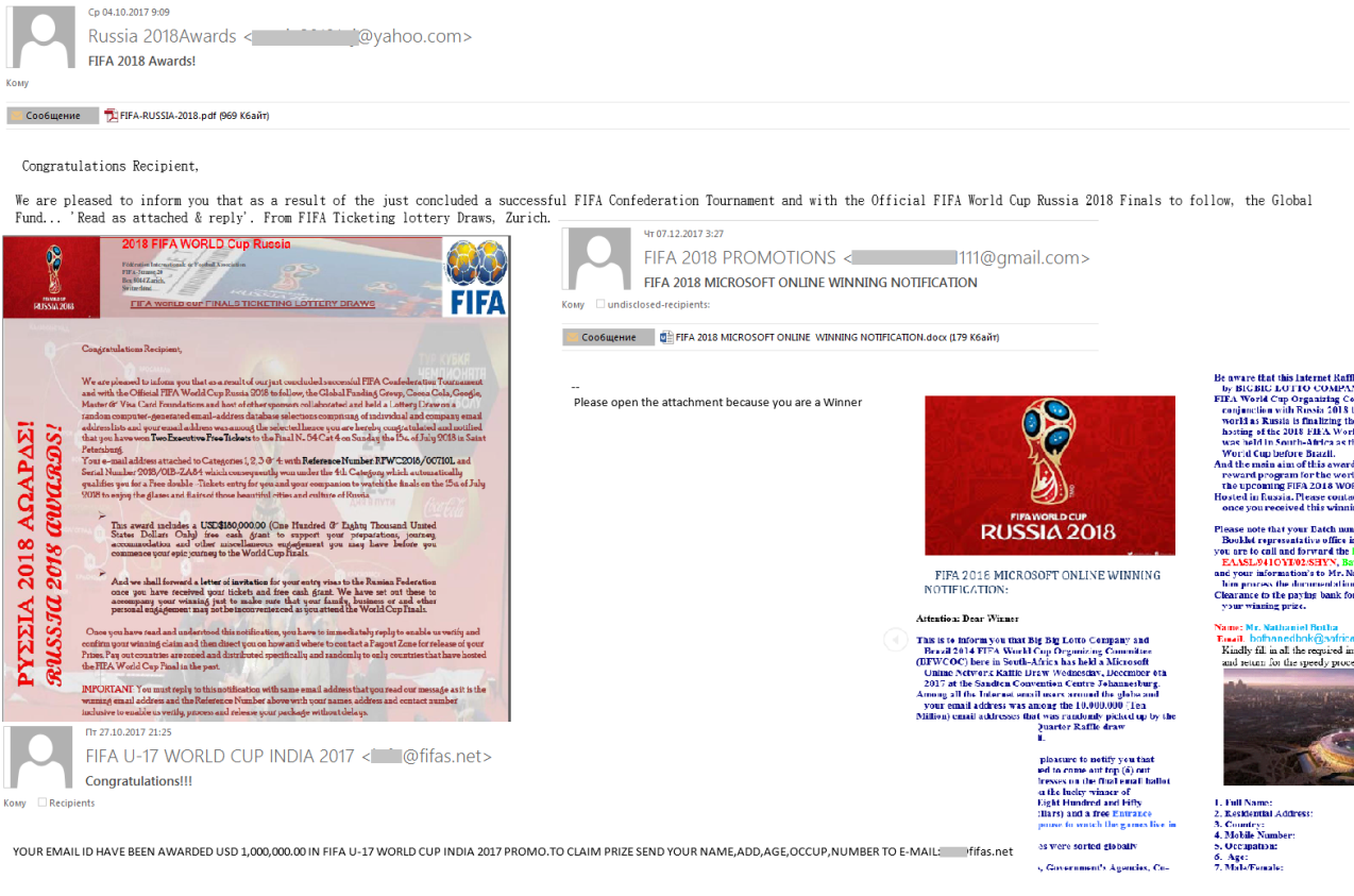 FIFA 2018 și Bitcoin, cele mai populare subiecte de spam și phishing