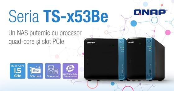 QNAP a lansat serverele NAS TS-253Be și TS-453Be cu procesoare quad-core