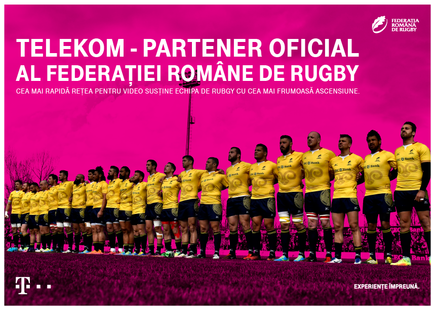 Telekom Romania este partener oficial al Echipei Nationale de Rugby a Romaniei