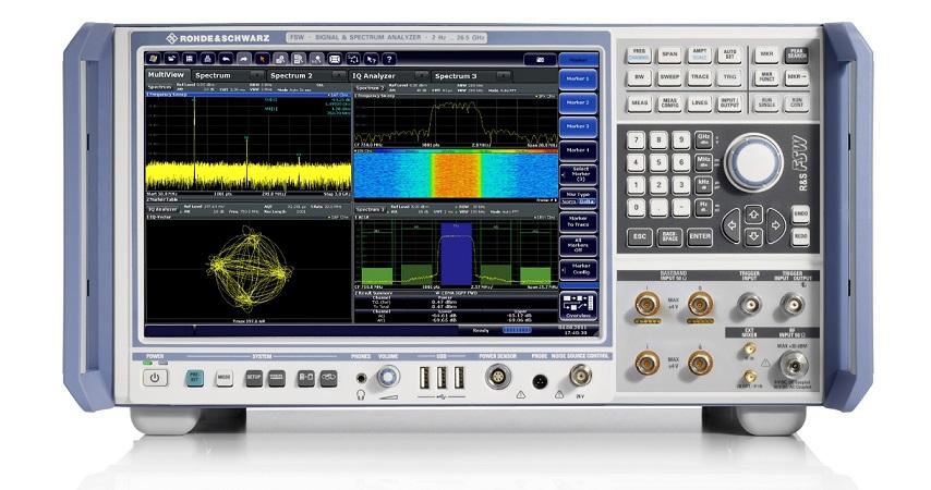Primul firmware de analiză industrială pentru 5G New Radio folosind R&S FSW