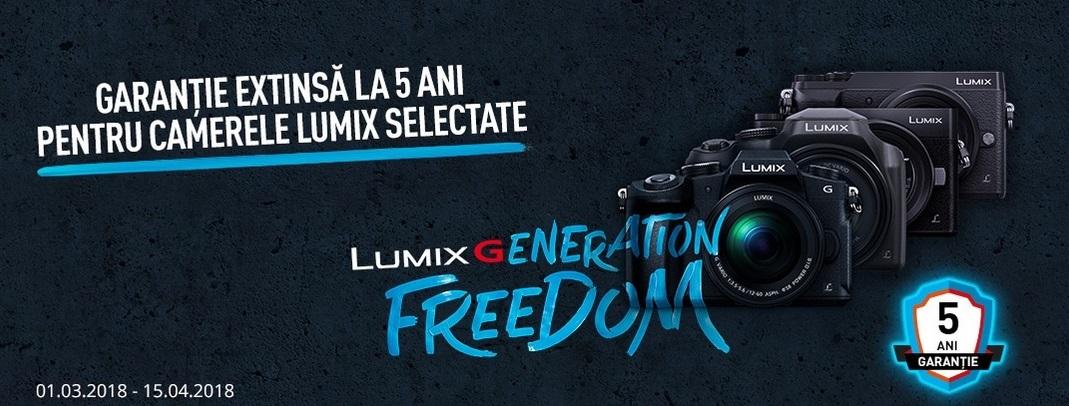 5 ani garanție la camerele foto din seria Lumix!