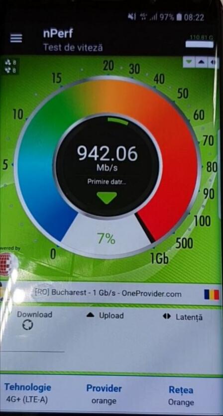 Viteze 4G+ de până la 500Mbps în 95 de orașe din România
