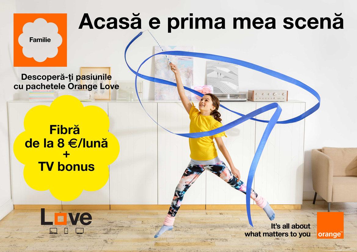 Televiziune gratuită şi un videoproiector pentru experienţe inedite alături de familie cu noua ofertă Orange Love