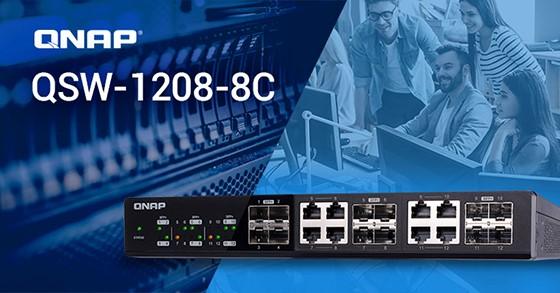 Conectivitate 10GbE prin noile switchuri QNAP QSW-1208-8C și QSW-804-4C