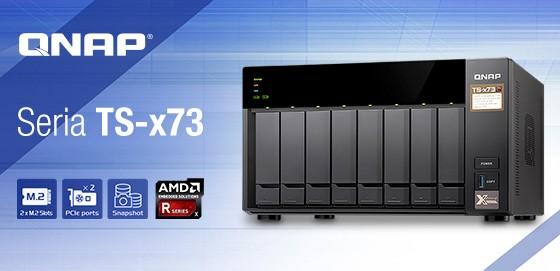 Serverele QNAP TS-x73 cu procesoare AMD Quad-core din seria R