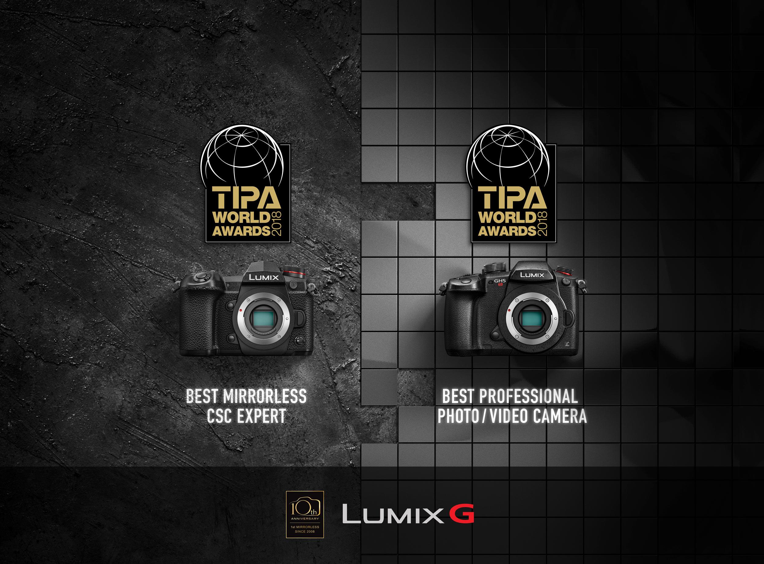 Camerele foto Panasonic premiate la TIPA Awards 2018