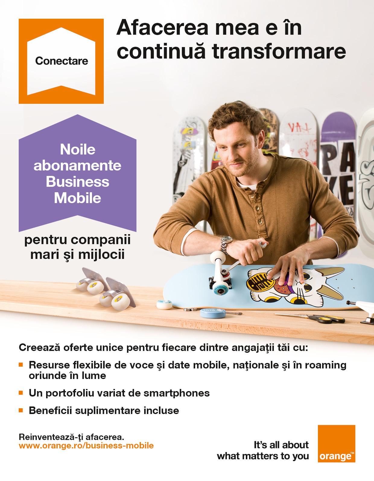 Noile abonamente Orange Business Mobile pentru IMM-uri conțin beneficii suplimentare de voce, date şi roaming