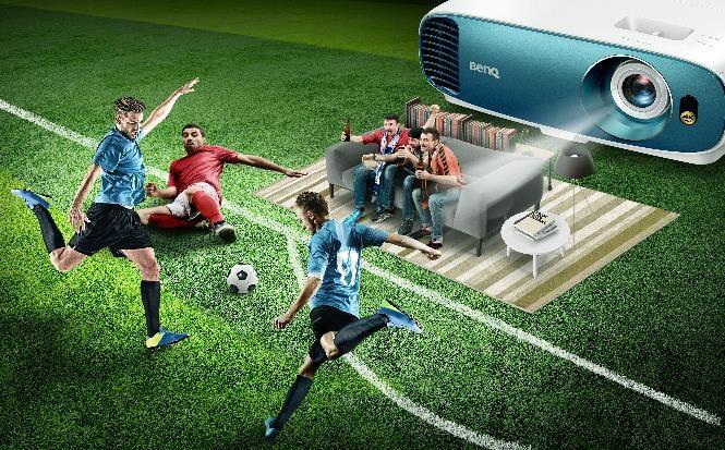 Fotbalul se vede cel mai bine pe un videoproiector BenQ
