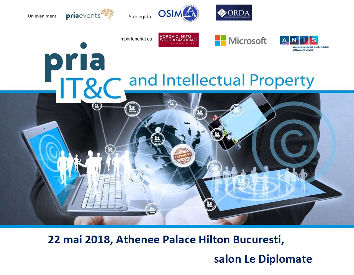 PRIA IT&C and Intellectual Property dedicat proprietății intelectuale