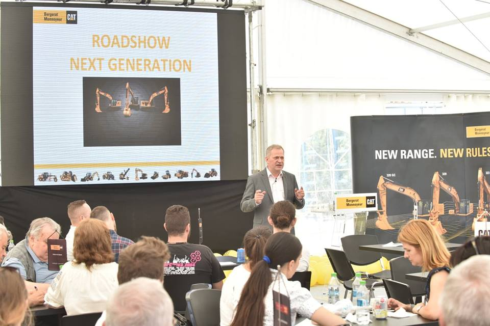 """New Range. New Rules."" Excavatoare Next Generation de la Caterpillar în România prin Bergerat Monnoyeur"